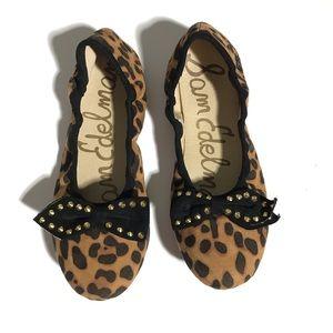 Sam Edelman Felicia Ballet Bow cheetah size 5